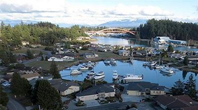 This aerial view captures the splendor of Shelter Bay.